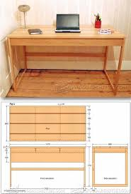 computer desk woodworking plans