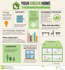eco friendly home infographic stock vector image 55535894