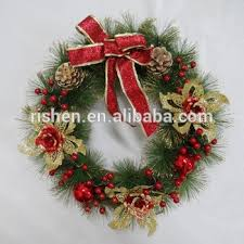 artificial christmas wreaths butterfly knot artificial christmas wreaths popular pine needle