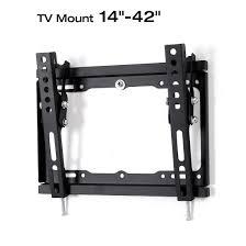 Tv Wall Mount Loctek Store Loctek Slim Profile Vesa Max 200x200 Tilt Tv Wall