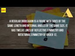 Interior Angle Sum Of A Decagon What Is Dodecagon In Math Youtube
