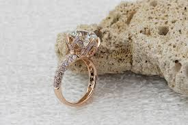 luxury diamonds rings images Luxury 4 carat 10mm sona lab gem rings rose gold color engagement jpg