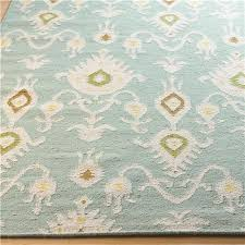 Aqua Runner Rug Ikat Pattern Dhurrie Rug Aqua Or Beige Shades Of Light 8x10 764