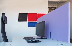 a rectangular work fort adds privacy to a workstationworkstation privacy panel