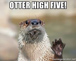 Otter Meme - otter high five high five otter meme generator