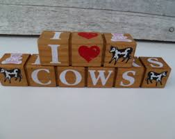 Decorative Letter Blocks For Home Wood Block Letters Etsy