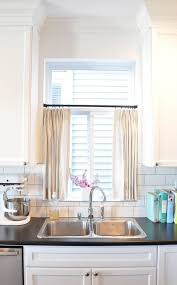 enchanting kitchen window curtains and curtains long kitchen