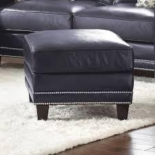 Navy Blue Leather Ottoman Sofa Leather Ottoman Living Room Ottoman Cube Ottoman