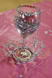 cheap and centerpiece dollar store wine glass and foil