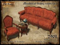 Old World Living Room Furniture by Second Life Marketplace Medieval Living Room Set Old World