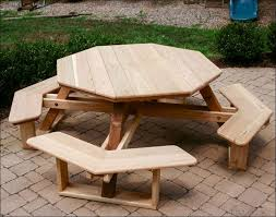 exteriors fabulous folding picnic table bench plans octagon