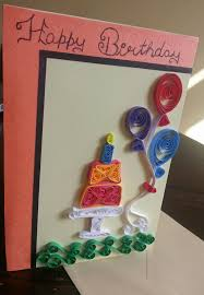 quilled birthday greeting card handmade personalised