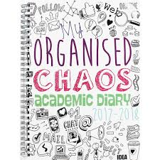 b5 my organised chaos academic diary 2017 2018 week to view