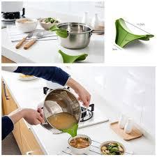 entonnoir cuisine anti déversement entonnoir cuisine gadget silicone slip sur bec en