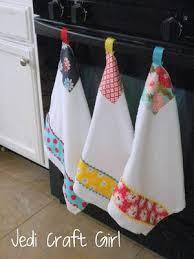 Kitchen Towel Craft Ideas | jedi craft girl kitchen towel makeover craft ideas pinterest