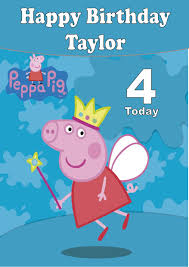 peppa pig birthday personalised peppa pig birthday card 2