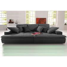 canapé grande assise canapé xl ou microfibre et tissu aspect tweed la grande
