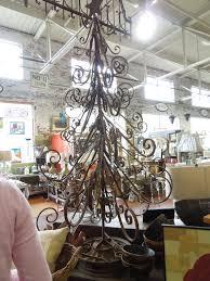Christmas Tree Ornament Display Shining Wrought Iron Christmas Tree Pretty Metal Stand Holiday
