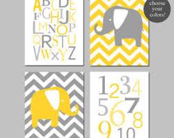 Grey And Yellow Nursery Decor by Nursery Decor Yellow Etsy