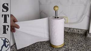 modify your paper towel holder to use it with one hand youtube