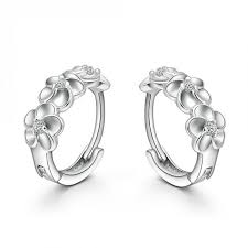 diamond earrings for sale best wholesale hot sale silver flower artificial small