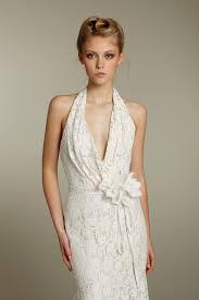 lace mermaid halter wedding dress with embellished bridal belt