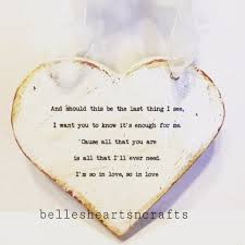 made wood heart personalized with your own wording or quote in a