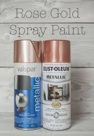 rust oleum metallic spray paints masons blush and bronze