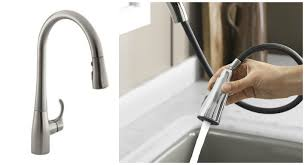 kohler k 596 cp simplice single hole pull down kitchen faucet