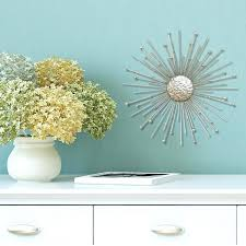 home decor flower wall ideas zoom silver burst wall decor metal starburst wall