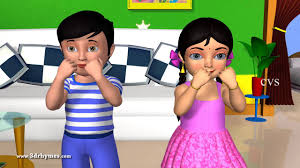 learn body parts song 3d animation english nursery rhyme for