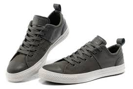 black low lights for grey converse chuck taylor grey all star city lights low tops black leather canvas sneakers jpg