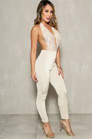 white dressy jumpsuits lace halter bodycon dressy jumpsuit