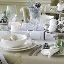 Christmas Table Decoration Ideas Cheap by Budget Christmas Table Ideas Christmas Table Settings White