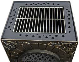 deeco aztec allure cast iron chiminea pizza oven dm 0039 ia c