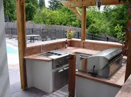 chic and trendy outdoor kitchen designs for small spaces outdoor