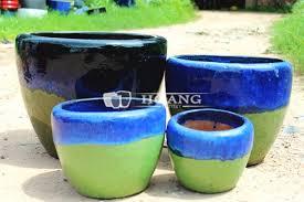 royal blue round outdoor glazed ceramic planters buy decorative