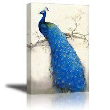 Peacock Living Room Decor Peacock Art Ebay