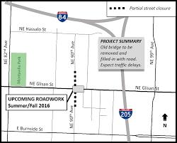 Portland Oregon Traffic Map by Ne Glisan St Bridge Removal At Ne 90th Ave The City Of Portland