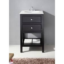 20 inch vanity with sink fairfield black 20 inch bath vanity and white quartz marble top