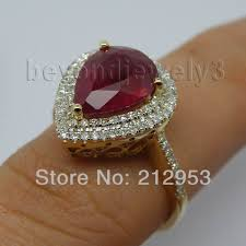 natural ruby rings images Vintage ruby diamond gold ring 585 yellow gold natural red ruby jpg