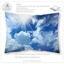Duvet Insert Twin Beautiful Cloudy Blue Sky Bedding Queen King Full Twin