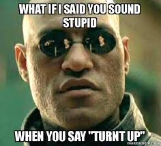 Turnt Meme - what if i said you sound stupid when you say turnt up make a