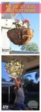 Outdoor Chandelier Diy Repurpose Flower Baskets Into A Glowing Outdoor Chandelier Club
