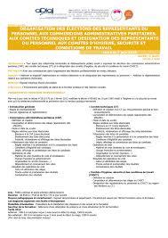 calcul repartition sieges elections professionnelles organisation des élections des representants du personnel