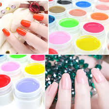 black 26 36 pure color uv gel nail art diy decoration for nail