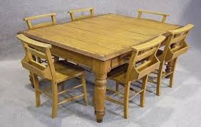 kitchen table and six chairs oak dining room kitchen table with