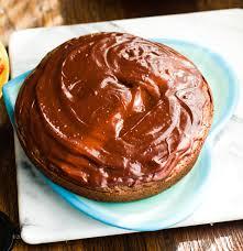 double chocolate ganache strawberry layer cake vegan