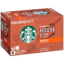 starbucks house blend medium roast ground coffee k cups hy vee