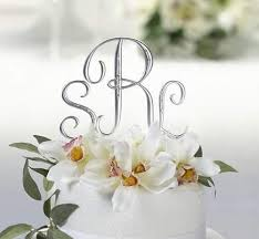 best cake toppers top 10 best monogram cake toppers